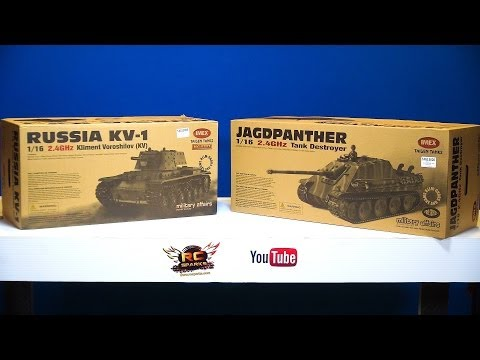 RC ADVENTURES - Kliment Voroshilov (KV-1) Tank & Jagdpanther Tank Destroyer - Taigen RC Tanks