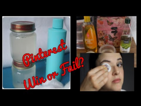 Pinterest Busters: DIY Eye Makeup Remover for Less Than 10 Cents an Ounce?
