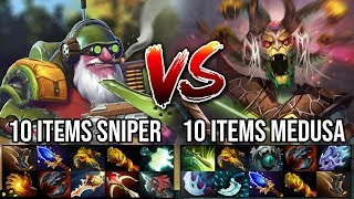 Carry Battle!!! WTF Raid Boss Medusa Vs Max Range Sniper IMBA 10 Items Power Who's the Boss Here ?