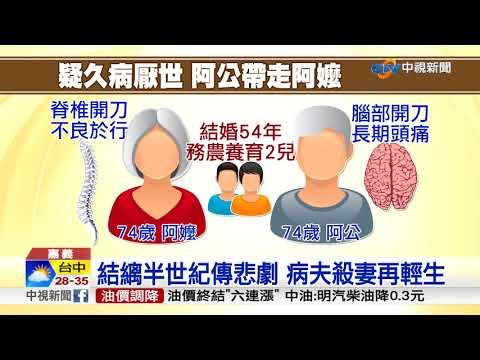 不捨另一半病痛! 七旬翁殺妻後輕生│中視新聞 20171008