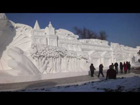 Visit the amazing ice city of Harbin and explore the amazing sculptures