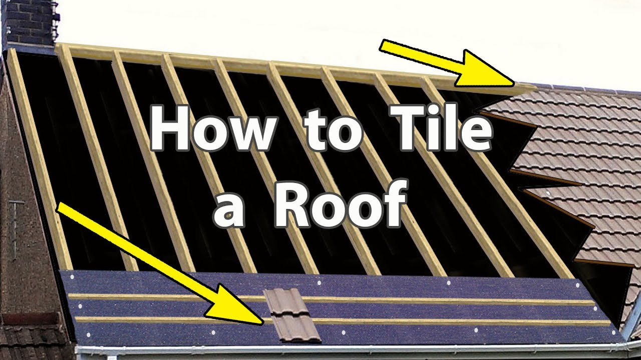 How To Tile A Roof With Clay Or Concrete Tiles New Roof