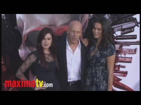Rumer Willis, Bruce Willis, Emma Heming at