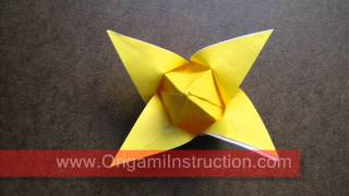Origami Instructions Origami Traditional Tulip
