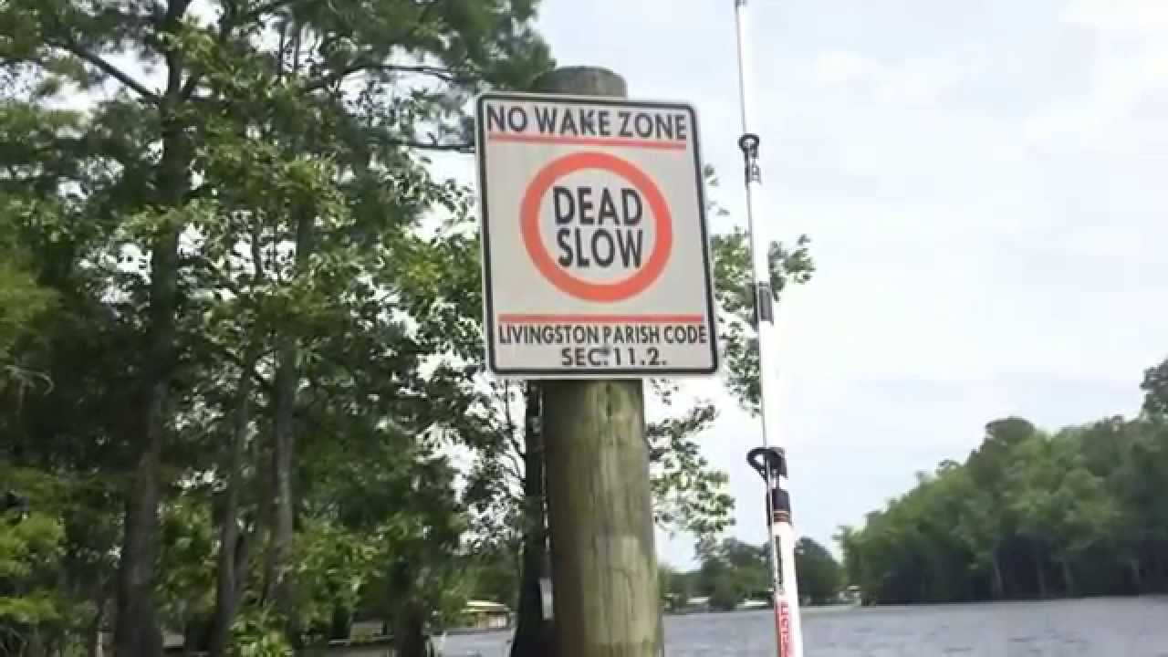 No Fishing Signs Gone Fishing  No Wake Zone