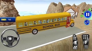 Mountain Uphill School Bus Driving 3D Game for kids - High School Bus Racing - Bus Games for Kids