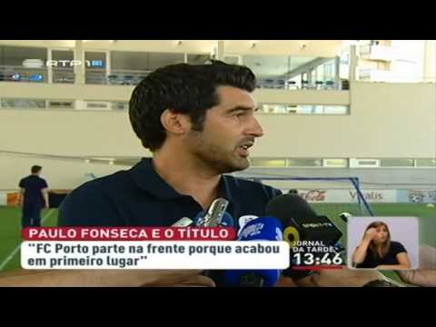 Paulo Fonseca assume favoritismo do FC Porto