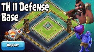 New Th11 Legend Defense Base 2018 Replay | Anti 2 Star/Anti Queen Walk Max Pekka/Anti Max Dragon