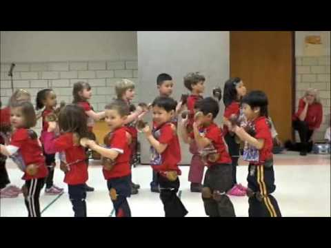 American Kids Dancing Maglalatik, Filipino Coconut Folk Dance video