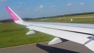 Airbus A320 take-off Wizz Air Eindhoven (EIN) Airport