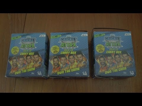 UK PREMIERE ☆ unboxing CARRY BOX ☆ topps CRICKET ATTAX 2014/15 IPL ☆ opening