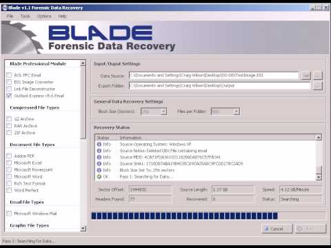 Blade: Outlook Express Recovery from Encase Image