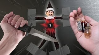 CUTTING OPEN EVIL ELF ON THE SHELF DOLL AT 3 AM!! (WHAT'S INSIDE ELF ON THE SHELF)
