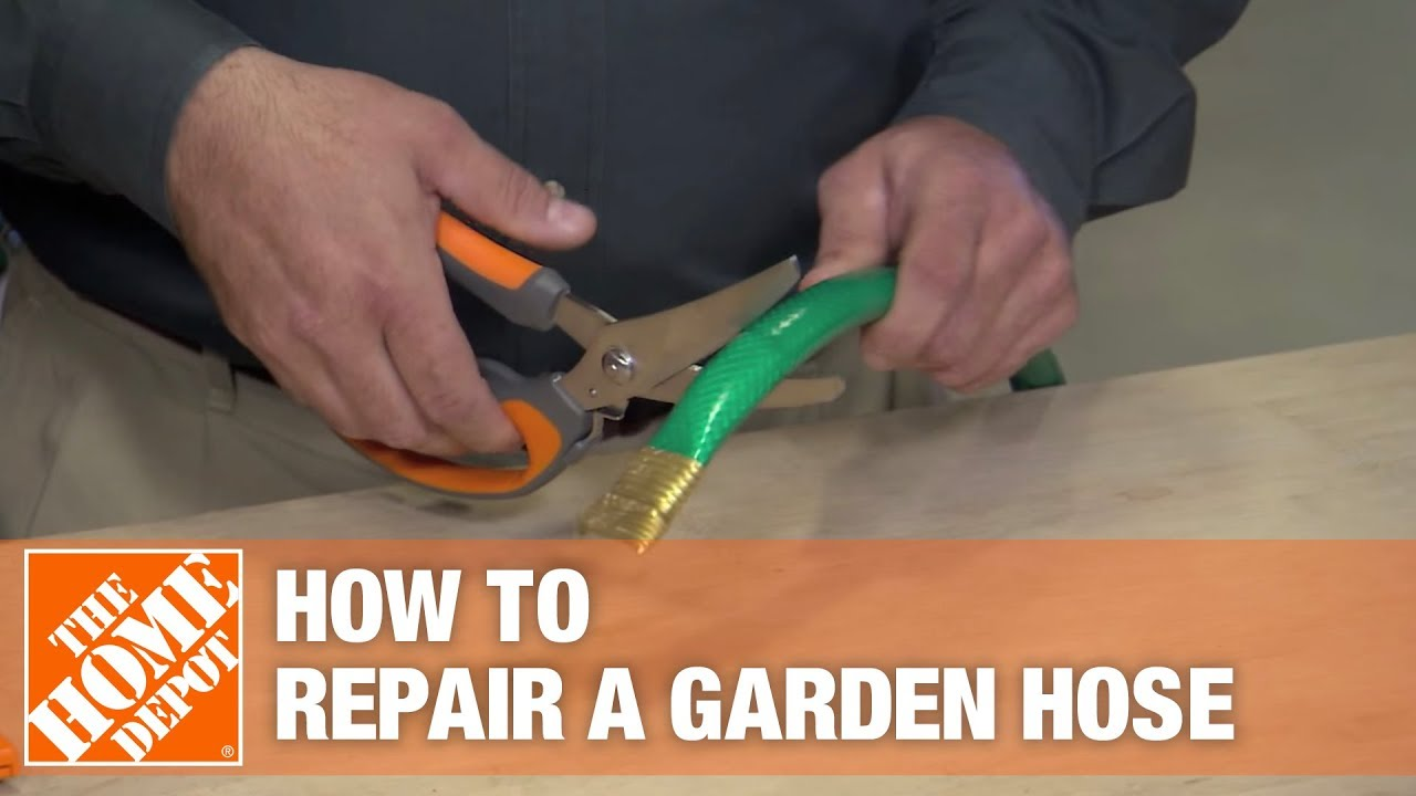 How To Repair A Damaged Garden Hose Youtube