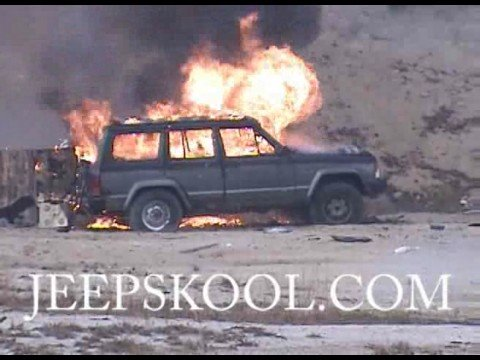Jeep Skool - extreme exploding Jeep Cherokee XJ Video