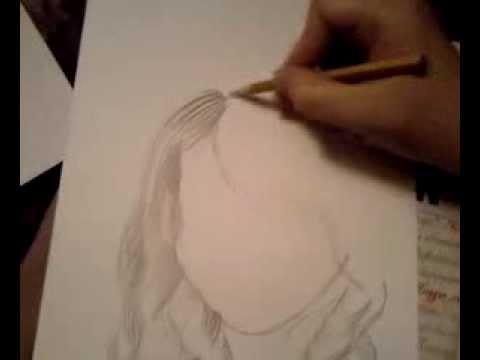 Видео как научиться рисовать волосы