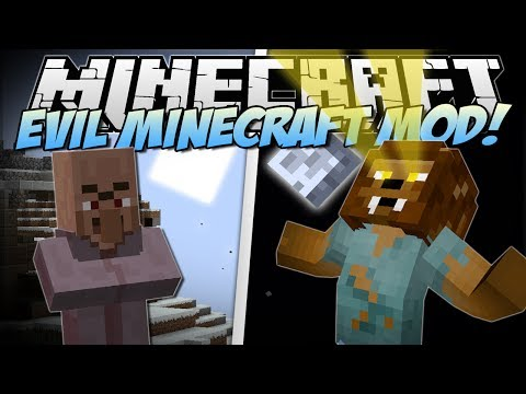 Minecraft EVIL MINECRAFT MOD Werewolves Farts Blood Magic Mod Showcase