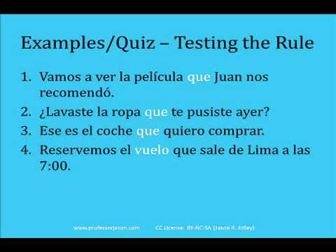 Spanish Relative Pronouns (Simplified Version): Using Que ...