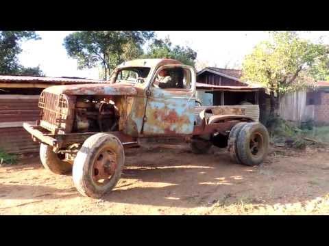Ligando caminhão Chevrolet 6 cilindros - militar