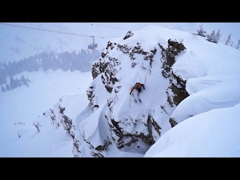 Jackson Hole Skiing Corbet's Backflip 70ft Frontflip