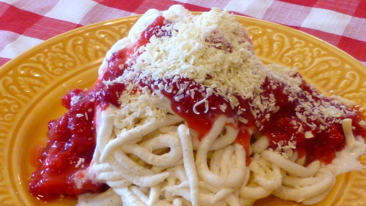 Spaghetti Ice Cream Dessert Youtube
