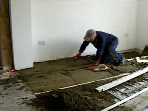How To Diy Floor Screed Youtube