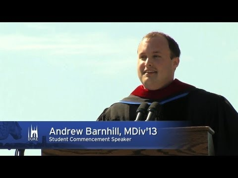 Duke University 2013 Graduation Speaker