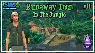 BACK TO THE JUNGLE #11 - Runaway Teen In The Jungle | Let's Play | The Sims 4 - Jungle Adventure