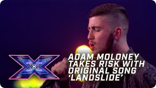 Adam Moloney takes RISK with original song 'Landslide' | X Factor: The Band | Arena Auditions