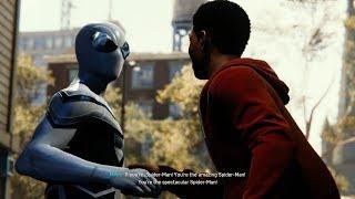 Miles Morales Meets Spider-Man (Future Foundation Suit Walkthrough) - Marvel's Spider-Man