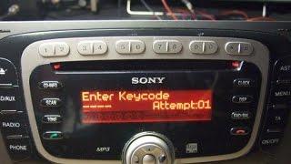 Ford Sony 6000 cd,MP3 code from serial,unlocked VISTEON serial V radios decode