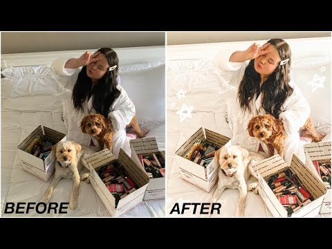 How I Edit My Instagram Photos + Clean with Me Chill Day - YouTube