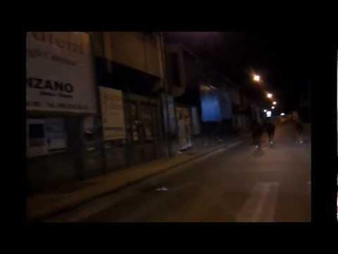 """Asini """"notturni"""" in fuga sulla statale 113 di Venetico Marina"""