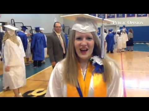 Sara Winegardner, salutatorian at McConnellsburg High School graduation. #mhsgrad2014