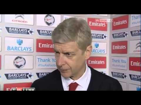 Arsenal 3 Newcastle 0 Arsene Wenger Post Match Reaction