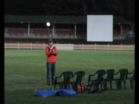 Jeremy Curtin singing 'Danny Boy' at the Frank Hyde Shield match between North Sydney Bears and the Newtown Jets at North Sydney Oval on Friday the 30th July...