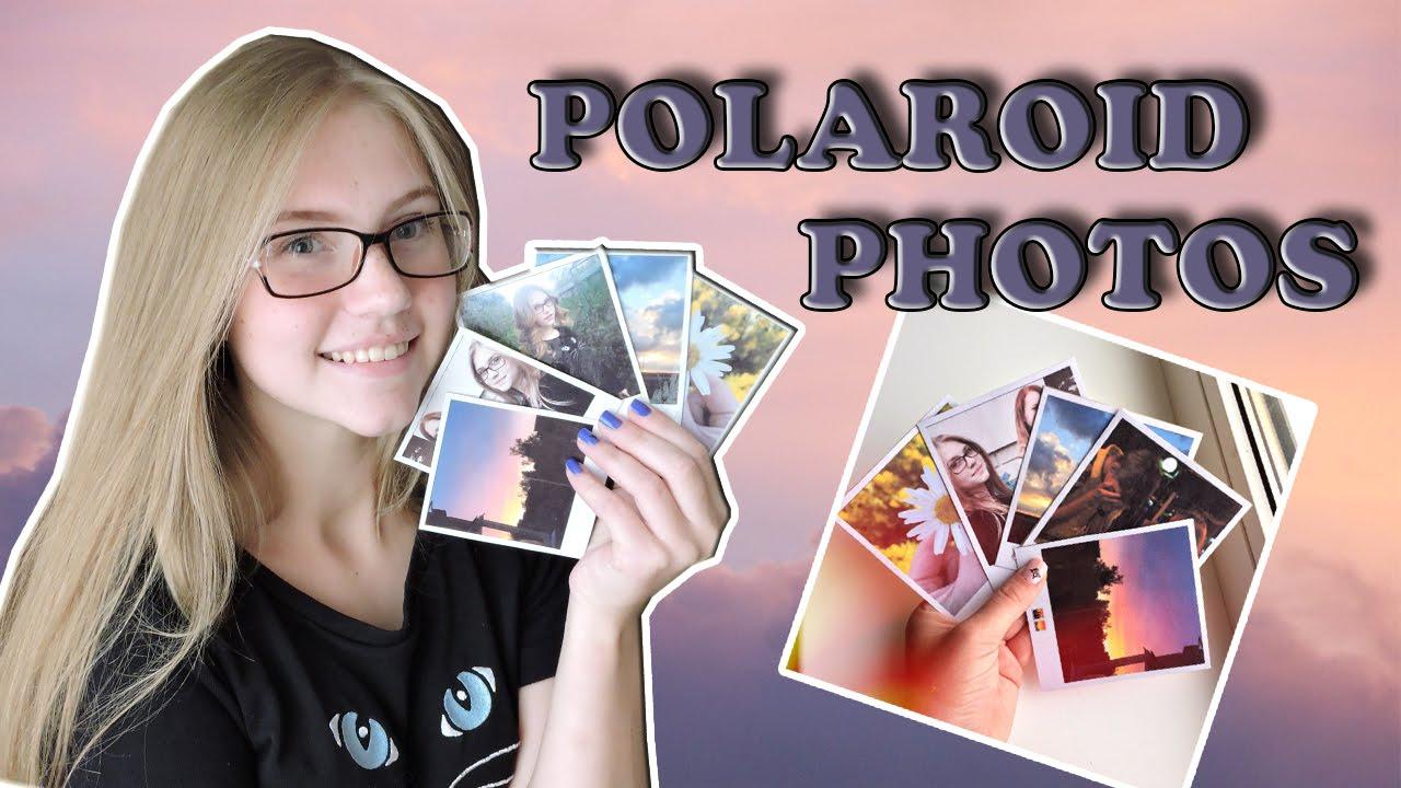 Как сделать фото как из полароида
