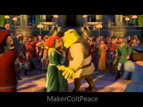 Shrek 2, ciuchino cantando con il gatto coi stivali =)