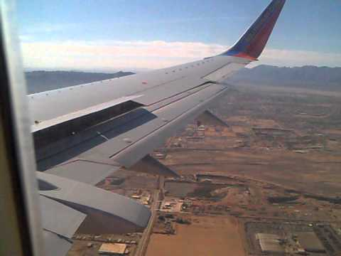 Southwest Airlines Arriving At Phoenix Sky Harbor International Airport