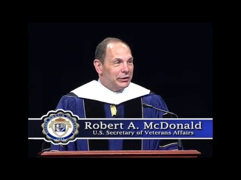 Undergraduate Commencement Speaker Robert McDonald, U.S. Secretary of Veterans Affairs
