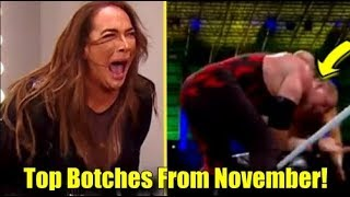 10 MUST SEE WRESTLING BOTCHES From The Month Of November!