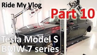 High End Car Detailing Ride My Vlog 10 with 2018 BMW 7 series, Tesla Model S and more