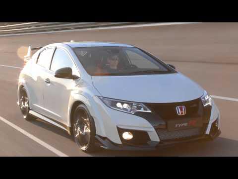 Honda Civic Type R Driving footage