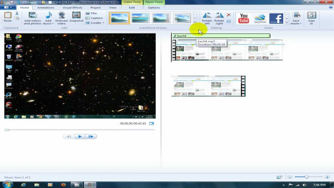 Windows Live Movie Maker Tutorial Music & Stuff - YouTube