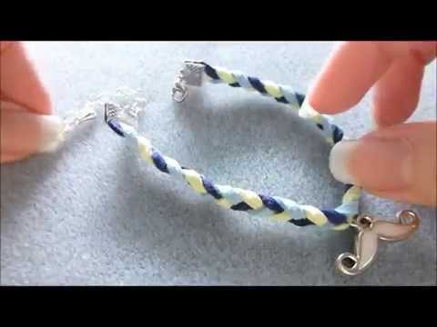 How to Make a Braided Bracelet with Charms using Faux Suede Cords