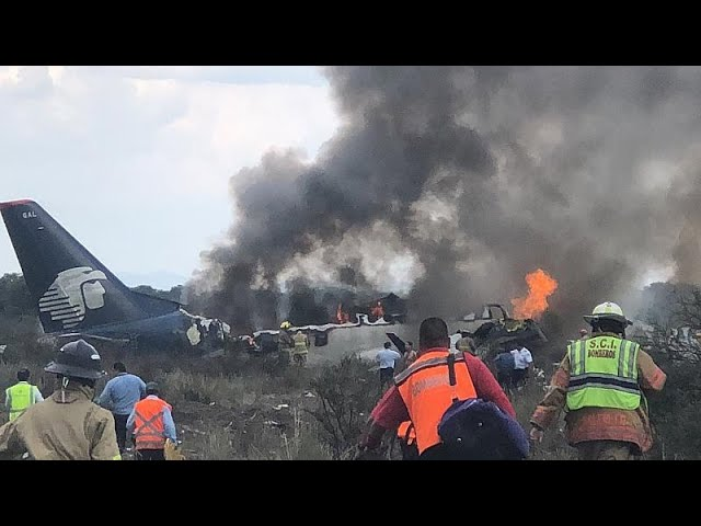 Watch: Aeroméxico plane crashes moments after take-off