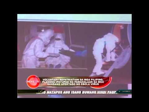 Voluntary repatriation for OFWs in Ebola virus-affected countries