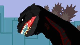 Godzilla vs Zilla and Dinosaurs cartoons battles compilation 2018 - DinoMania