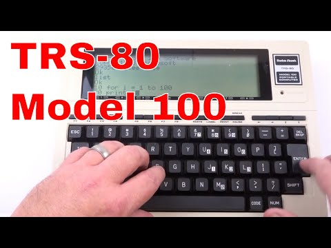 Demo of the Radio Shack Tandy TRS-80 Model 100 Portable Computer - 1983 vintage