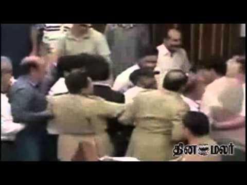 Jammu & Kashmir MLA's Fight in Assembly - Dinamalar March 27th 2015 Tamil Video News